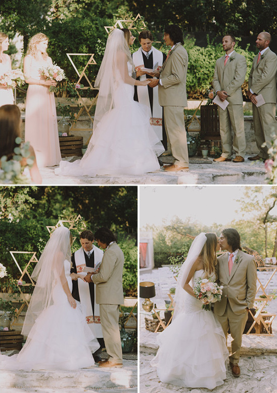 Mod chic wedding ceremony