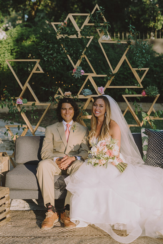 Funky backdrop idea with triangles
