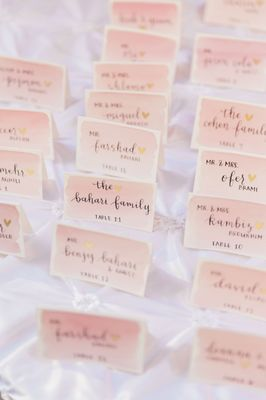 Gold and Pink Estate Wedding