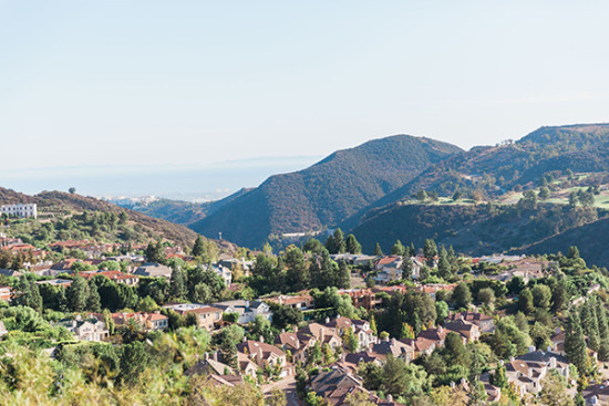 a view of the california hils