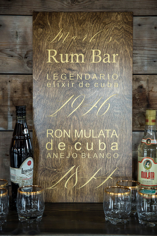 Wood rum bar sign idea