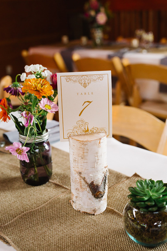 table number in wood