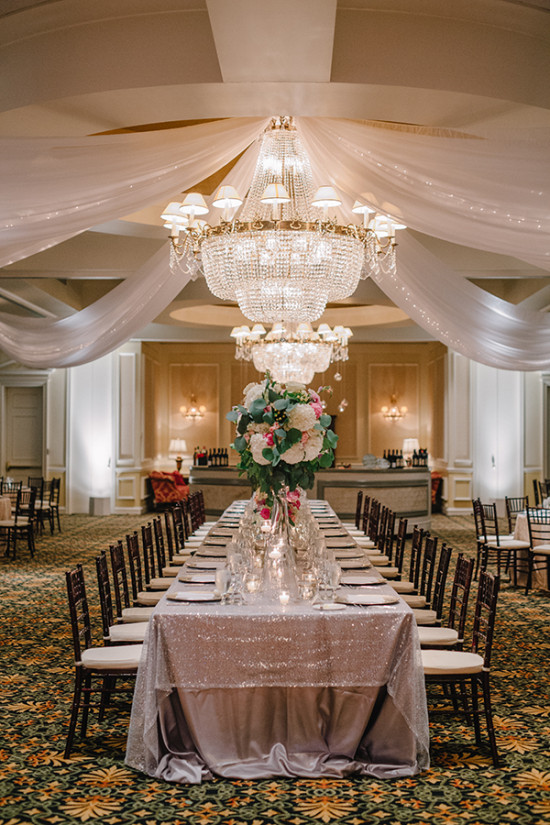 glam wedding reception