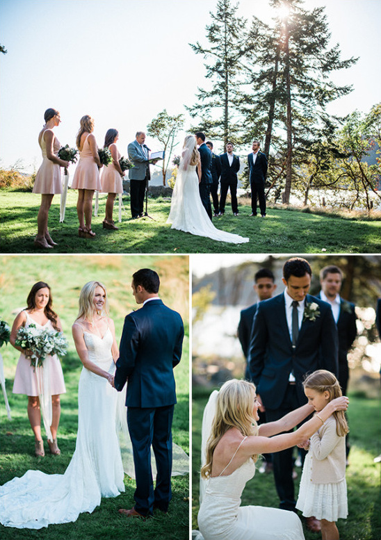 saying i do and including the grooms daughter in the ceremony