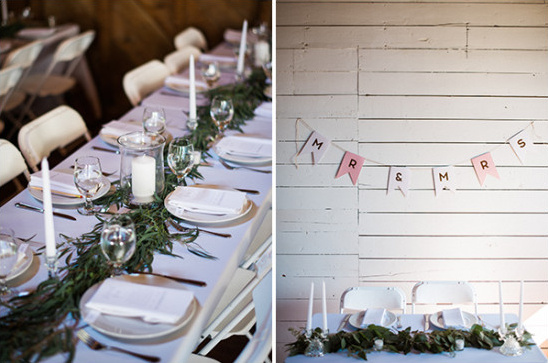 graland centerpiece and bunting decor
