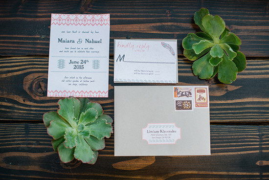 Southerwestern wedding invitation suite