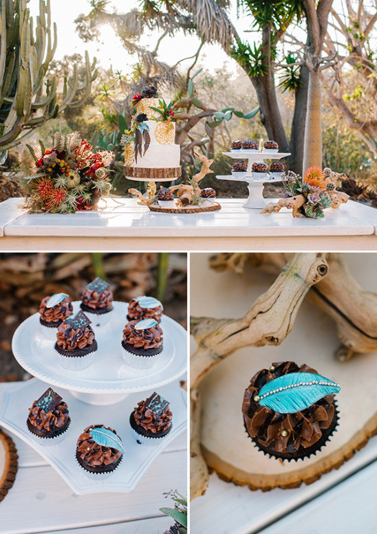 Southwestern dessert table idea