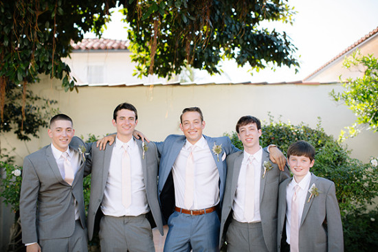 Groomsmen look in gray