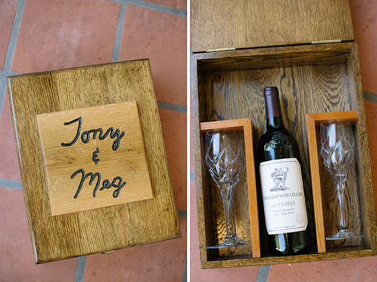 Custom ceremony wine box