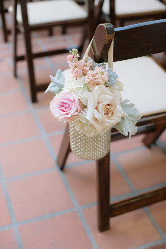 Wedding floral aisle decor
