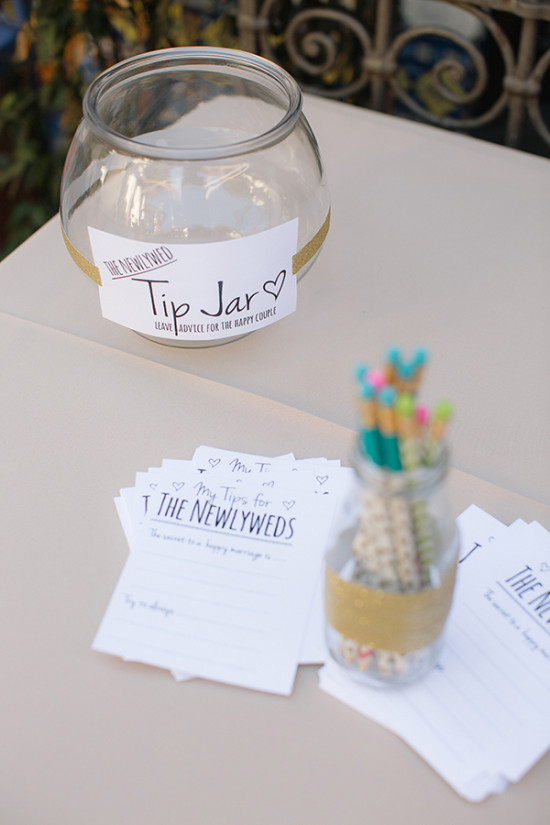 Wedding tip jar for newlyweds