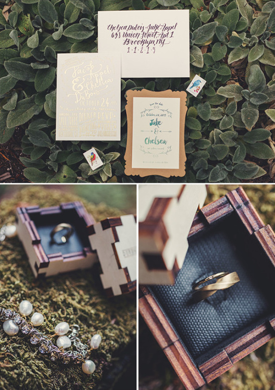 wedding invitations and ring box