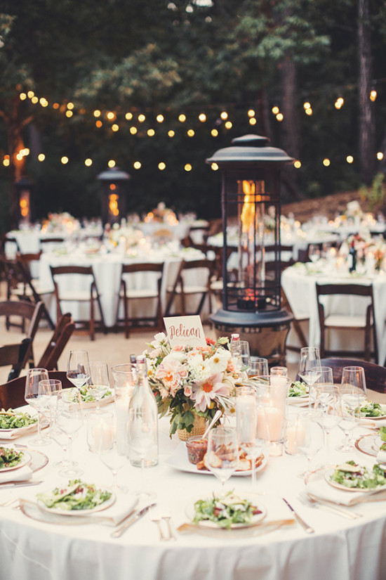 Romantic boho chic forest wedding for Romantic wedding reception ideas