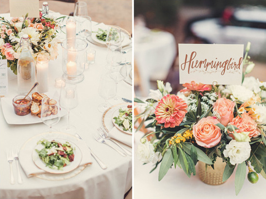wedding table decor and centerpiece