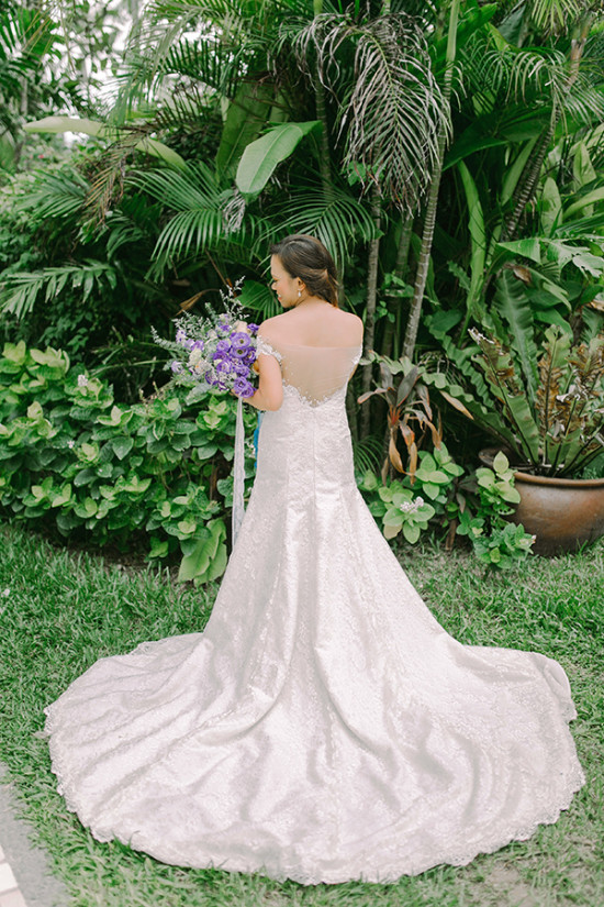 wedding gown with dramatic back