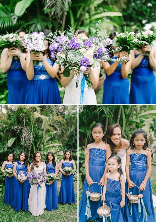 royal blue wedding party