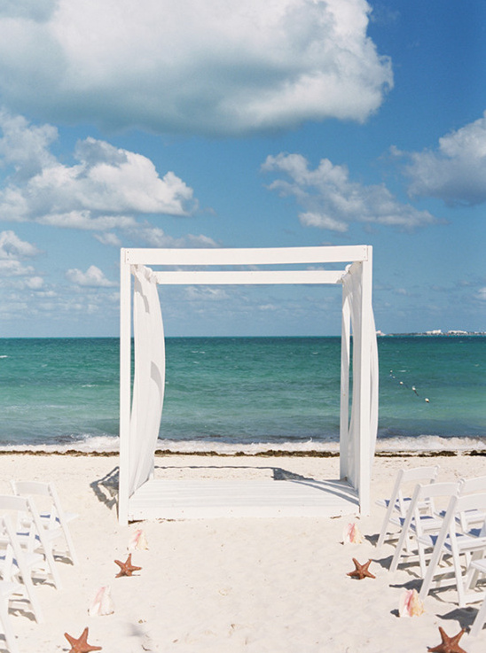 Simple beach ceremony arch