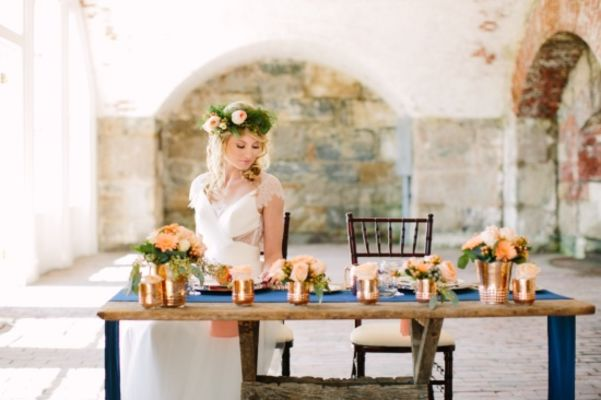 Copper and Peach Indie Wedding ideas