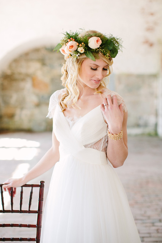flower halo perfect for your indie bridal look