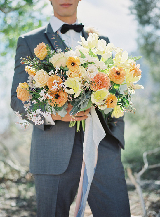 orange and yellow wedding bouquet