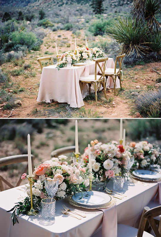 elegant desert wedding table decor