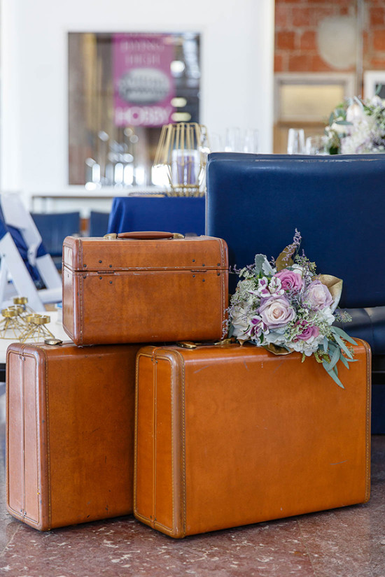 Vintage suitcase decor