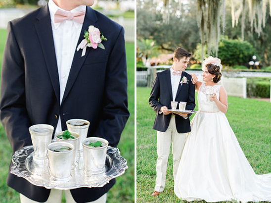 mint julep wedding cocktail