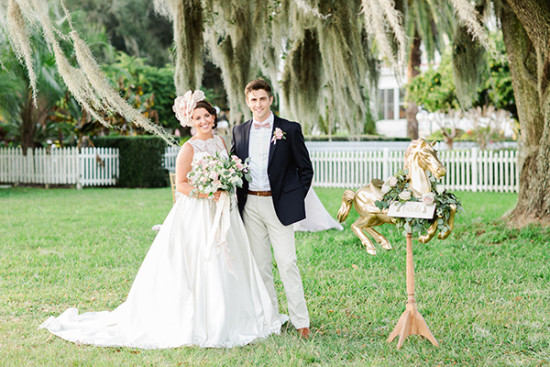 sweet southern bride and groom style