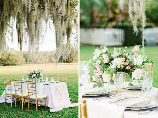 elegant outdoor southern wedding decor