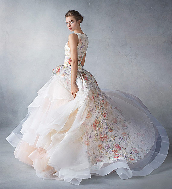 bridal ball gown from Lazaro