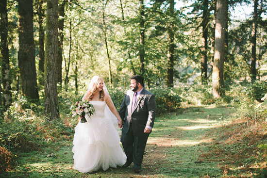forested wedding photography