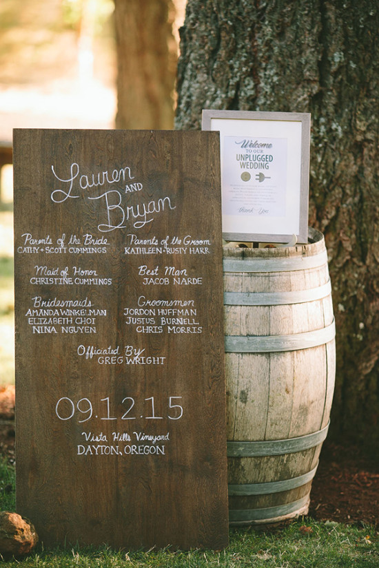 wedding welcome sign and program sign