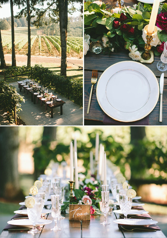 rustic glam outdoor reception