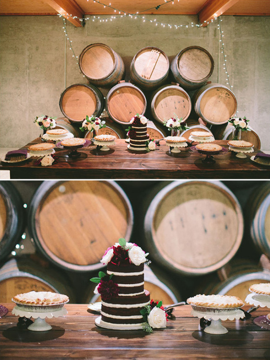 rustic cake table idea