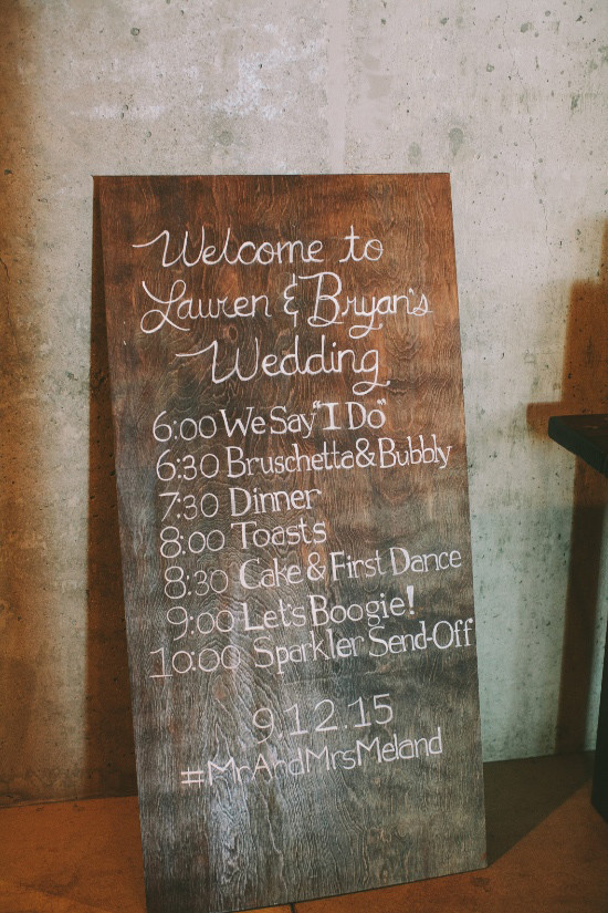 wedding proceedings sign