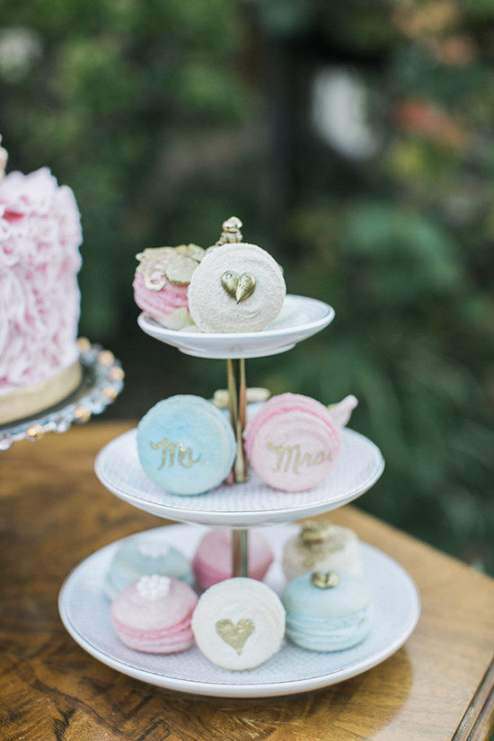 cute wedding macrons
