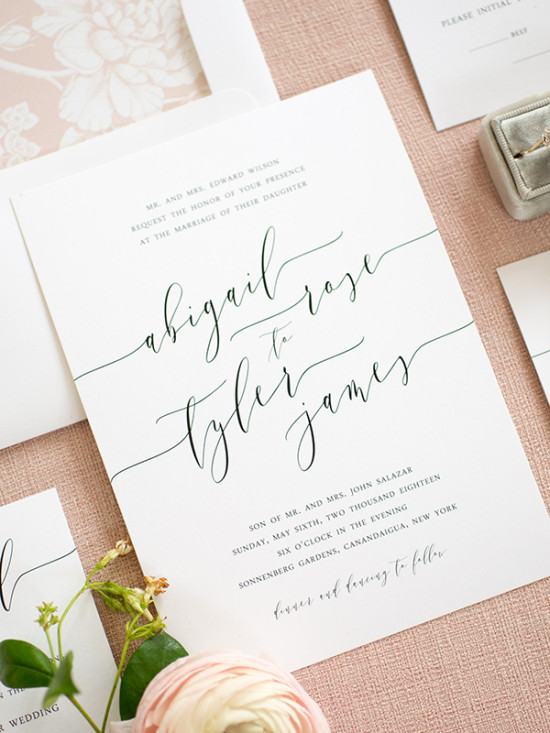 Clean Simple Elegant Wedding Invitations From Shine
