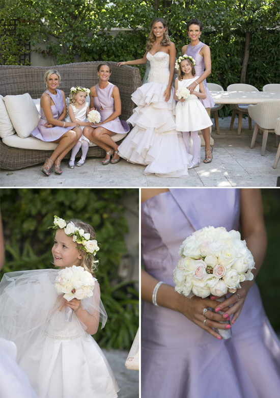 flower girl and bouquets