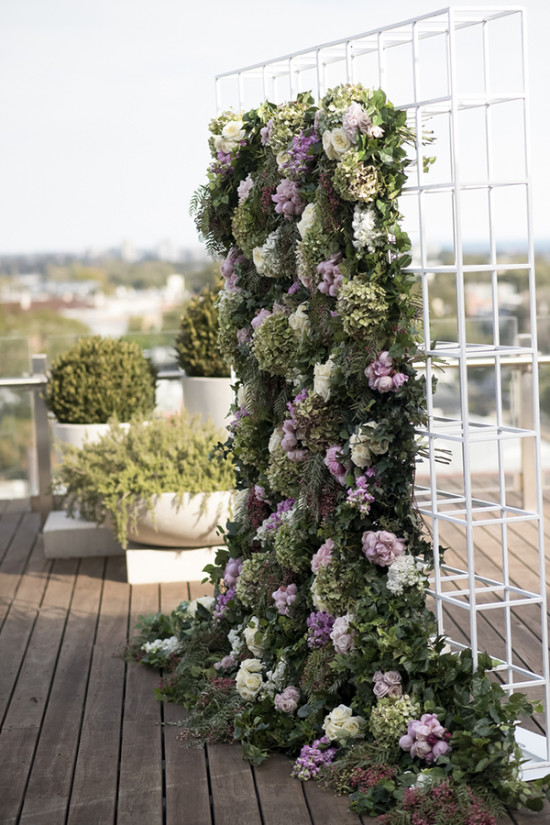purple and white flower backdrop