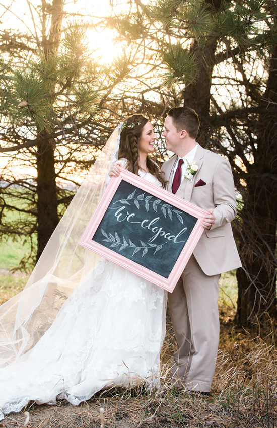 Elopement sign idea
