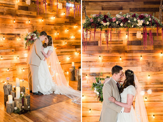 Rustic and romantic barn ceremony ideas