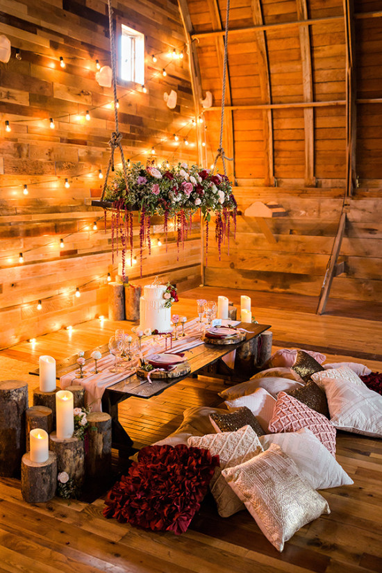 Twilight Rustic Barn Wedding