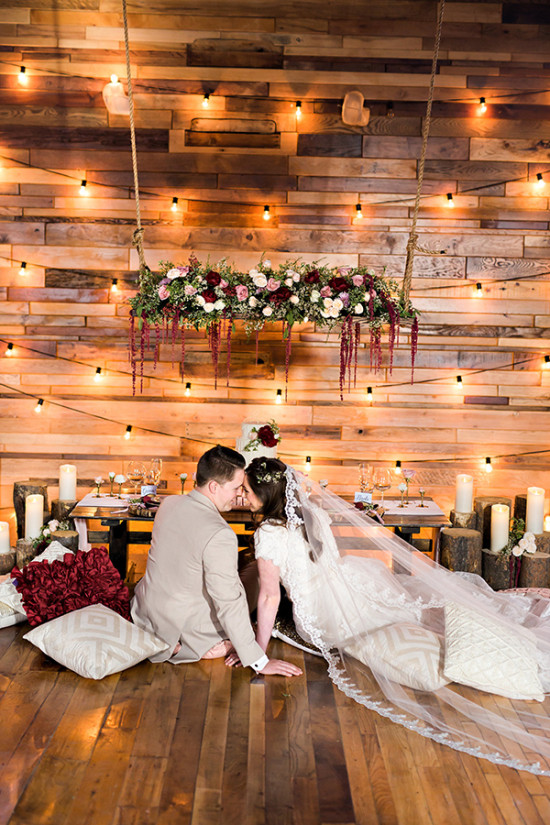 Romantic barn elopement