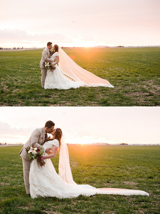 Sunset wedding photography ideas