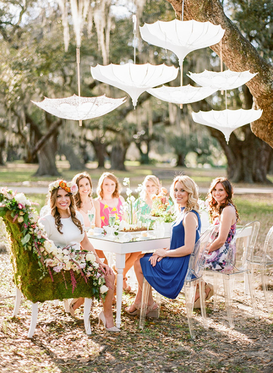 Outdoor bridal shower