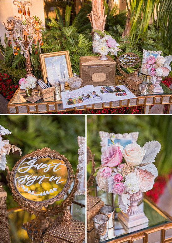Guest book table decor