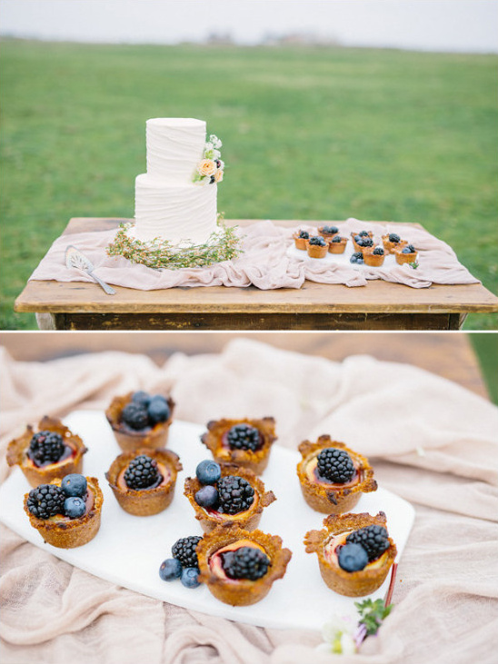 Simple dessert table