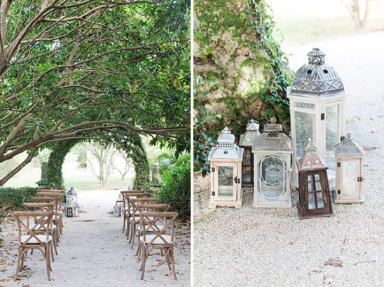 natural garden wedding ceremony