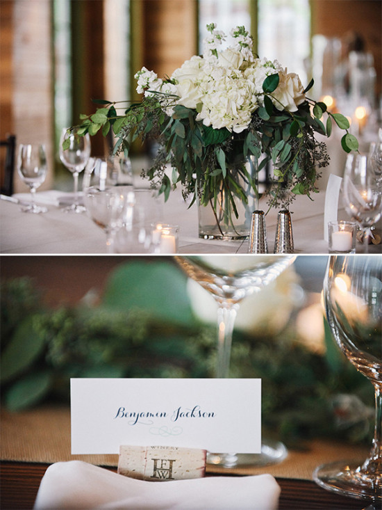 classic flowers and place cards