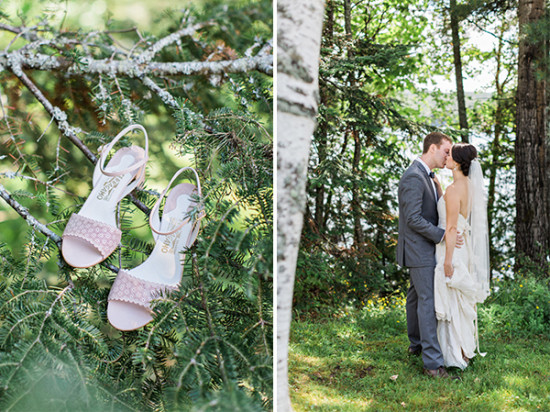 outdoor woodsy wedding